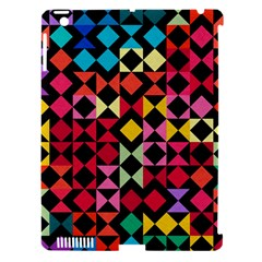 Colorful Rhombus And Triangles                          Apple Ipad 3/4 Hardshell Case (compatible With Smart Cover)