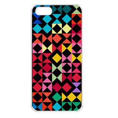Colorful Rhombus And Triangles                          Apple Iphone 5 Seamless Case (white)