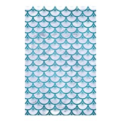 Scales3 White Marble & Teal Brushed Metal (r) Shower Curtain 48  X 72  (small)