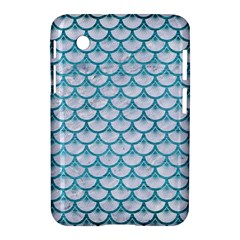 Scales3 White Marble & Teal Brushed Metal (r) Samsung Galaxy Tab 2 (7 ) P3100 Hardshell Case