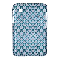 Scales2 White Marble & Teal Brushed Metal (r) Samsung Galaxy Tab 2 (7 ) P3100 Hardshell Case
