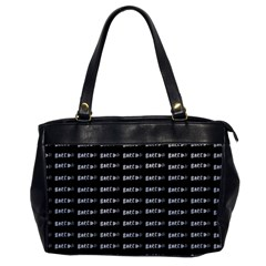 Bored Comic Style Word Pattern Office Handbags
