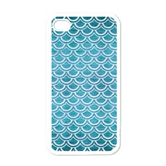 Scales2 White Marble & Teal Brushed Metal Apple Iphone 4 Case (white)