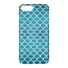 Scales1 White Marble & Teal Brushed Metal Apple Iphone 7 Plus Hardshell Case