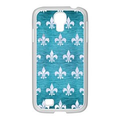 Royal1 White Marble & Teal Brushed Metal (r) Samsung Galaxy S4 I9500/ I9505 Case (white)