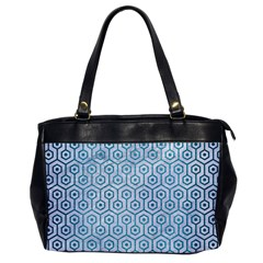 Hexagon1 White Marble & Teal Brushed Metal (r) Office Handbags