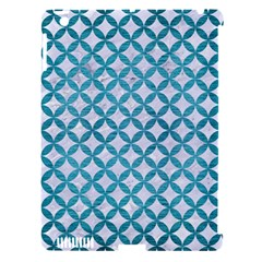 Circles3 White Marble & Teal Brushed Metal (r) Apple Ipad 3/4 Hardshell Case (compatible With Smart Cover)