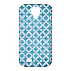 Circles3 White Marble & Teal Brushed Metal Samsung Galaxy S4 Classic Hardshell Case (pc+silicone)