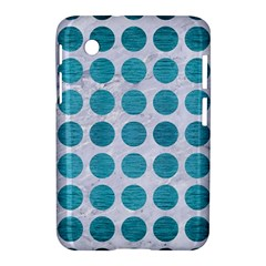Circles1 White Marble & Teal Brushed Metal (r) Samsung Galaxy Tab 2 (7 ) P3100 Hardshell Case
