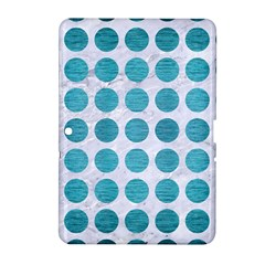 Circles1 White Marble & Teal Brushed Metal (r) Samsung Galaxy Tab 2 (10 1 ) P5100 Hardshell Case
