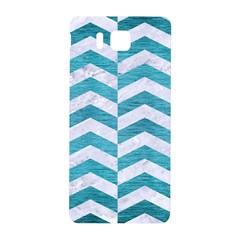 Chevron2 White Marble & Teal Brushed Metal Samsung Galaxy Alpha Hardshell Back Case