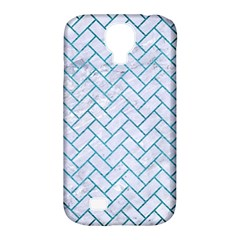 Brick2 White Marble & Teal Brushed Metal (r) Samsung Galaxy S4 Classic Hardshell Case (pc+silicone)