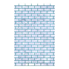 Brick1 White Marble & Teal Brushed Metal (r) Shower Curtain 48  X 72  (small)