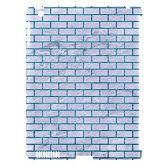 Brick1 White Marble & Teal Brushed Metal (r) Apple Ipad 3/4 Hardshell Case (compatible With Smart Cover)