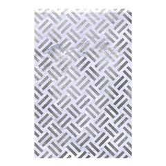 Woven2 White Marble & Silver Paint (r) Shower Curtain 48  X 72  (small)