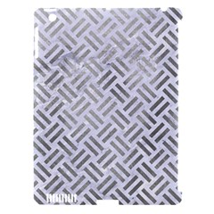 Woven2 White Marble & Silver Paint (r) Apple Ipad 3/4 Hardshell Case (compatible With Smart Cover)