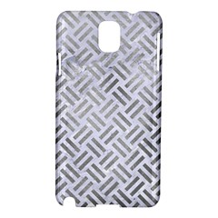 Woven2 White Marble & Silver Paint (r) Samsung Galaxy Note 3 N9005 Hardshell Case