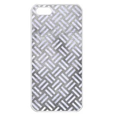 Woven2 White Marble & Silver Paint Apple Iphone 5 Seamless Case (white)