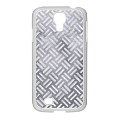 Woven2 White Marble & Silver Paint Samsung Galaxy S4 I9500/ I9505 Case (white)