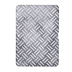 Woven2 White Marble & Silver Paint Samsung Galaxy Tab 2 (10 1 ) P5100 Hardshell Case