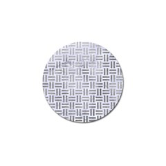Woven1 White Marble & Silver Paint (r) Golf Ball Marker