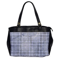 Woven1 White Marble & Silver Paint (r) Office Handbags