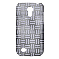Woven1 White Marble & Silver Paint Galaxy S4 Mini