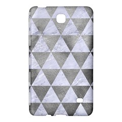 Triangle3 White Marble & Silver Paint Samsung Galaxy Tab 4 (8 ) Hardshell Case