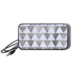 Triangle2 White Marble & Silver Paint Portable Speaker