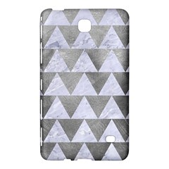 Triangle2 White Marble & Silver Paint Samsung Galaxy Tab 4 (8 ) Hardshell Case