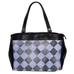 Square2 White Marble & Silver Paint Office Handbags