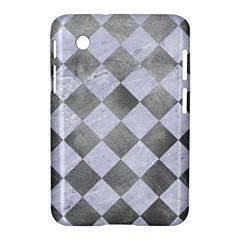 Square2 White Marble & Silver Paint Samsung Galaxy Tab 2 (7 ) P3100 Hardshell Case