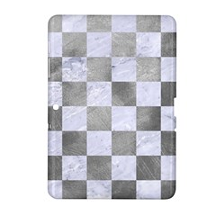 Square1 White Marble & Silver Paint Samsung Galaxy Tab 2 (10 1 ) P5100 Hardshell Case