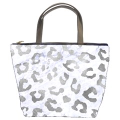 Skin5 White Marble & Silver Paint Bucket Bags