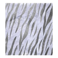 Skin3 White Marble & Silver Paint (r) Shower Curtain 66  X 72  (large)