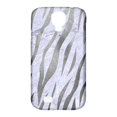 Skin3 White Marble & Silver Paint (r) Samsung Galaxy S4 Classic Hardshell Case (pc+silicone)