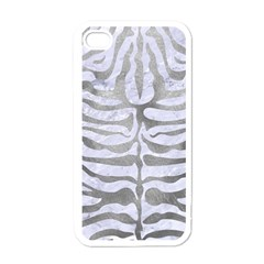 Skin2 White Marble & Silver Paint (r) Apple Iphone 4 Case (white)