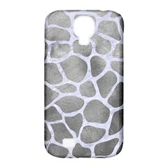 Skin1 White Marble & Silver Paint (r) Samsung Galaxy S4 Classic Hardshell Case (pc+silicone)