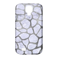 Skin1 White Marble & Silver Paint Samsung Galaxy S4 Classic Hardshell Case (pc+silicone)