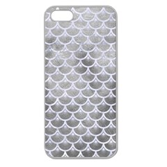 Scales3 White Marble & Silver Paint Apple Seamless Iphone 5 Case (clear)