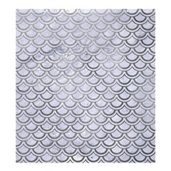 Scales2 White Marble & Silver Paint (r) Shower Curtain 66  X 72  (large)