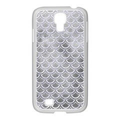 Scales2 White Marble & Silver Paint Samsung Galaxy S4 I9500/ I9505 Case (white)