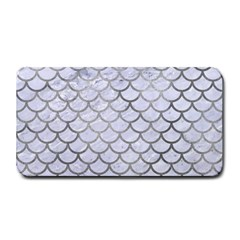 Scales1 White Marble & Silver Paint (r) Medium Bar Mats