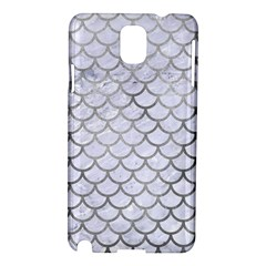 Scales1 White Marble & Silver Paint (r) Samsung Galaxy Note 3 N9005 Hardshell Case