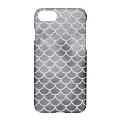 Scales1 White Marble & Silver Paint Apple Iphone 8 Hardshell Case