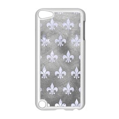 Royal1 White Marble & Silver Paint (r) Apple Ipod Touch 5 Case (white)