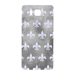 Royal1 White Marble & Silver Paint (r) Samsung Galaxy Alpha Hardshell Back Case