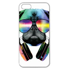 Dj Pug Cool Dog Apple Seamless Iphone 5 Case (clear)