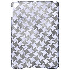 Houndstooth2 White Marble & Silver Paint Apple Ipad Pro 9 7   Hardshell Case