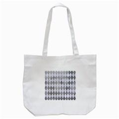 Diamond1 White Marble & Silver Paint Tote Bag (white)